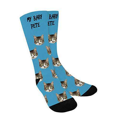 Custom Face Socks for Men, Personalized Socks with Picture&Text Christmas Story Socks Custom Photo Gifts for Women, Friend