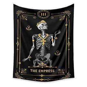 VIENLOVE Black Tarot Card Tapestry Poster Blanket Tapestries Skull Skeleton Flag Wall Hanging Handicrafts Art Decorative Home Decor