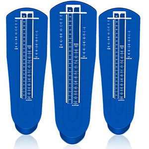 3 Pieces Foot Measuring Device Feet Length Measuring Ruler Shoe Sizer for Infants Kids Adults Men Women, US Standard Shoe Size (Blue)