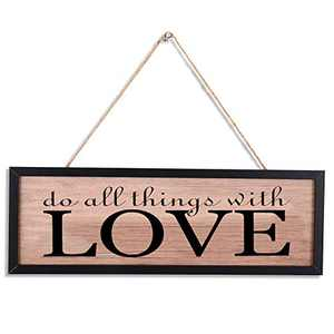 Rustic Wood Wall art Sign Board,LOVE Retro Vintage Slat Hanging Framed Wall Decorations,Home Wall Decor Gift for Living Room Bedroom Kitchen Dining Room Farmhouse Entryway Sign