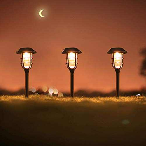 6 Pack Solar Lights Outdoor Decorative, Warm Glow Garden Stakes, Waterproof Sun Powered LED Landscape Lighting for Pathway, Yard, Path, Lawn Decor (Copper)