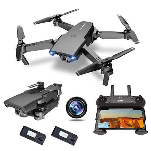NEHEME NH525 Foldable Drones with 720P HD Camera for Adults, RC Quadcopter WiFi FPV Live Video, Altitude Hold, Headless Mode, One Key Take Off for Kids or Beginners with 2 Batteries