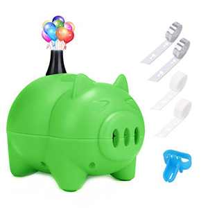 LIKEE Electric Balloon Pump Portable Balloon Inflator Air Blower with Balloon Arch &Garland Kit for Party Decoration (Green)