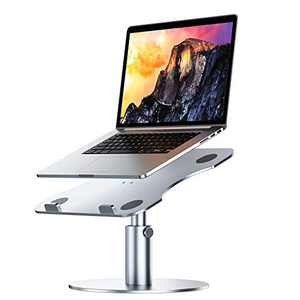 "Adjustable Laptop Stand YoFeW, Aluminum Laptop Riser, Multi-Angle Height Adjustable 360°Rotation Notebook Stand Desktop Holder Compatible with Mac MacBook Pro Air, Lenovo, Dell XPS, HP(10-17"")"