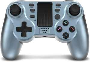 Controller for PS4, PowerLead Wireless Gaming Controller Six-axis Dual Vibration Gamepad for Playstation 4/Playstation 3 with Colorful LEDs and Touch Pad
