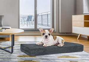 Orthopedic Dog Bed with Memory Foam | Lavish Mattress for Orthopedic Pet Joint Relief | Machine Washable Fabric with Removable and Water-Resistant Cover