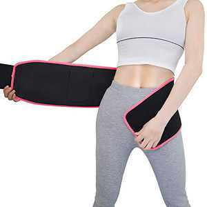 FIASON Waist Trimmer Belt, Neoprene Belly Wrap, Workout Sport Girdle Belt for Fitness Rose Red