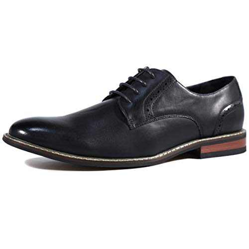 DREAMY STARK Oxford Men Derby Shoe Formal Dress Shoes Black