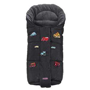 DIY Fun Stroller Universal Bunting Bag,Ultra Soft Coral Fleece,Waterproof Winter Outdoor Stroller Footmuff,Width Adjustbale for Baby Growth Sleeping Bag