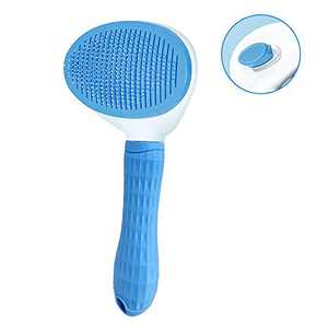 Cat Brush Cat Shedding Brush with Self-Clean Eject Button Cat Grooming Brush Cat Massage Brush, Deshedding Tool for Short and Long Hair, Quick Release Hair Button/Easy to Clean