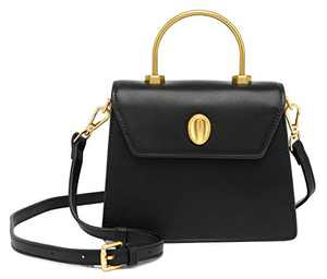Scarleton Mini Top Handle Satchel Handbag for Women, Purses for Women, Vegan Leather, Crossbody Bag for Women, Shoulder Purse, H2077208401 - Black