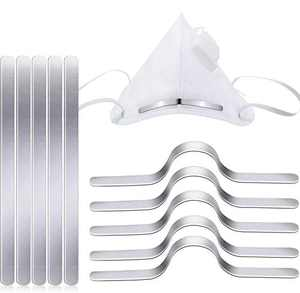 Strips Nose Wire | Nose Bridge Strips for Mask | Aluminum Metal Flat Strips Straps | Adjustable Nose Clips Wire | for DIY Wire (210)