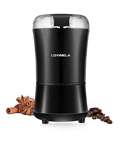 Electric Coffee Grinder, Coffee Bean Blade Grinders, Stainless Steel Blade, Small & Portable & Compact for Spices, Pepper, Herbs, Nuts, Seeds, Grains(Brush NOT Included)