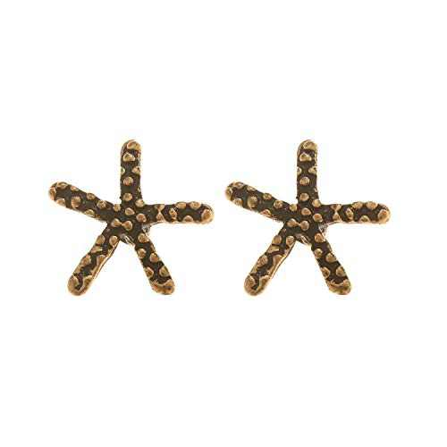 Glitzies Women's Bohemian Golden Starfish with Gold-Plated Elements and Rhinestones