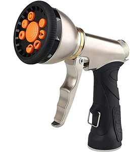 Hose Nozzle Hose Sprayer Heavy Duty Hose Spray Nozzle with 9 Adjustable Patterns Garden Hose Nozzle
