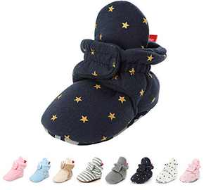 Baby Boy Girl Booties Fleece Cozy Non Skid Infant Nweborn Slippers Winter Warm Socks Crib Shoes