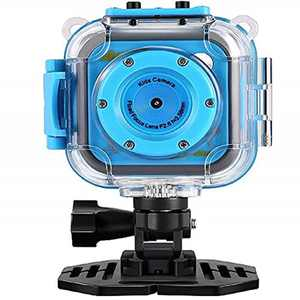 GAKOV Kids Camera,Digital Childrens Camera WiFi 2MP Underwater 20m Waterproof Video Kids Camera Mini Sports Camera for Kids boys girls (L)