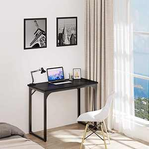 "YITAHOME Computer Desk 39"" Modern Sturdy Office Desk PC Laptop Desk Study Writing Table for Home Office Workstation Black"