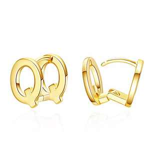 Initial Stud Earrings for Women 14K Gold Plated Letter Q Earrings Jewelry Gifts for Her