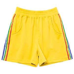 Mirawise Girls Athletic Shorts Play Soccer Sports Basketball Shorts 4-13Y Yellow