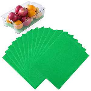 Wanapure 13 Pack Extender Liner, Cuttable Sponge Refrigerator Liners, 12 x 15 Inches Fridge Mat Pad for Extends The Life of Your Produce Spoilage (Green)