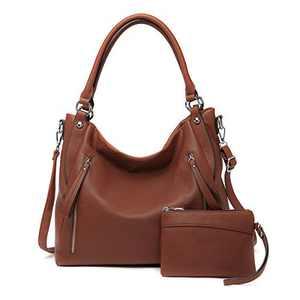 Women Handbags Shoulder Bags PU Leather Satchel Tote Bag Mutipocket Purse (K.EYRE#KL7219#U8388#860-Maple Red)