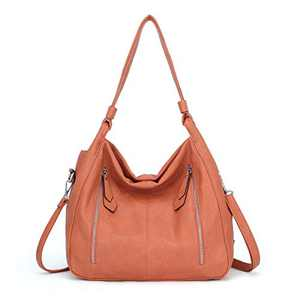Women Handbags Shoulder Bags PU Leather Satchel Tote Bag Mutipocket Purse (K.EYRE#KL7215#U8388#868-BROWN)
