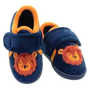 Boys Slippers Lion Indoor Outdoor House Shoes Slip-on Winter Kids Animal Bedroom Slippers Little Kid US 12