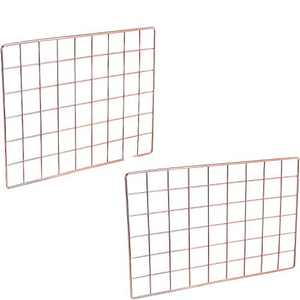 Afaris Wall Grid Panel,Grid Photo Wall, Office Wall Organizer Ins Art Display for Bedroom, Living Room or Office, Rose Gold (1)