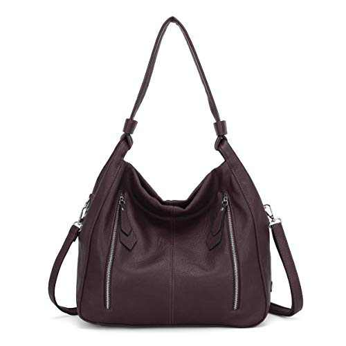 Women Handbags Shoulder Bags PU Leather Satchel Tote Bag Mutipocket Purse (K.EYRE#KL7215#U8388#285-WINE)