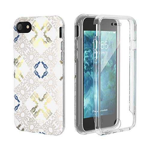 LOFTER GeoGold Case Designed for iPhone SE 2020 Case [Built-in Screen Protector] Stylish iPhone 8 Cover Protective Bumper Case for iPhone 7/8 / SE 2020 - Floral