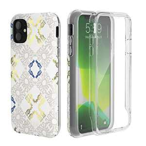 LOFTer GeoGold Case Designed for iPhone 11 Case (2019 Release) [Built-in Screen Protector] Stylish Protective Bumper Full-Body Rugged Protection for iPhone 11 6.1'' - Floral