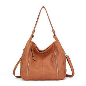 Women Handbags Shoulder Bags PU Leather Satchel Tote Bag Mutipocket Purse (K.EYRE#KL7215#U8388#366-ORANGE)
