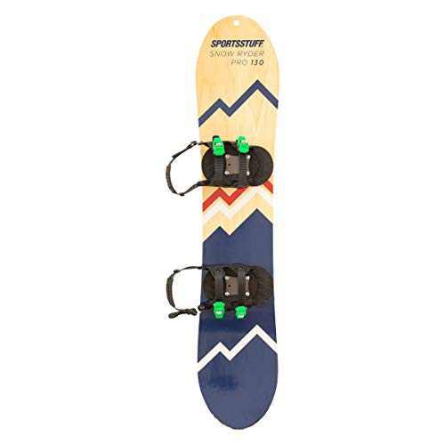 SportsStuff Snow Ryder PRO Hardwood Snowboard, 130cm, Black, one Size