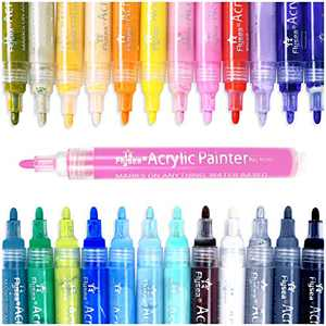 Acrylic Paint Marker Pens,drying quickly Paint Pens for Rocks Painting, Stone, Wood, Glass, Ceramic, Fabric, Canvas, Mugs, DIY Craft Making Supplies Craft