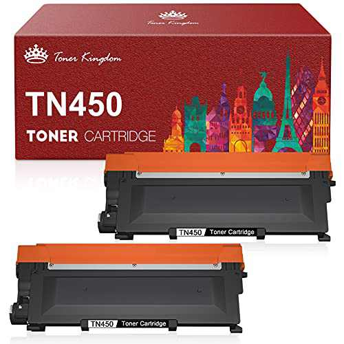 Toner Kingdom Compatible Toner Cartridge Replacement for Brother TN450 TN-420 TN-450 TN420 for HL-2270DW HL-2280DW HL-2230 HL-2240 MFC-7360N MFC-7860DW DCP-7065DN Intellifax 2840 2940 (Black, 2 Pack)