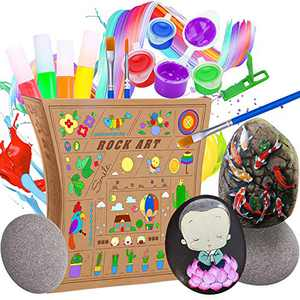 Rock Painting Kit, Creativity Arts & Crafts DIY Supplies Kit, Arts and Crafts for Girls & Boys, Craft Art Kit, Great Craft Creative Gift for Ages 6-12