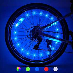 Bike Lights for Wheels 2 Pack Gifts for Men Gifts for Teens Boys Girls Bike Wheel Lights for Kids Cool Toys Easter Gifts Birthday Gifts Age 5-18+ Gifts for Dad Brother Uncle 2-Tire Pack, Blue