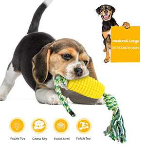 Growom Dog Chew Toys,Tough Dog Toys for Medium Large Dogs bite-Resistant Toothbrush Dog Toy,Corn Molar Stick with Rope Corn Nearly Indestructible Dog Dental Toys Christmas & Halloween gifts
