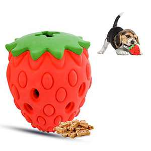 Growom Strawberry Dog Chew Toys for Aggressive Chewer- Fun to Chew, Chase and Fetch,Tough Dog Toys for Medium Large Dogs,Interactive Treat Toys for Dogs Christmas & Halloween gifts