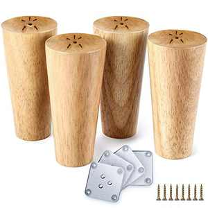 Wood Furniture Legs Set of 4 for Furniture Sofa Couch Ottoman Coffee Table Bench Chair 5'',Table Legs Furniture Feet Furniture Legs Couch Legs