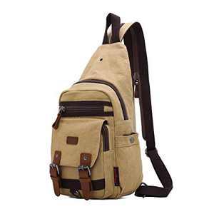 Canvas Messenger Bag For Men Little Backpack Shoulder Backpack Mochilas De Mujer (KL7224#16-113BEIGE)
