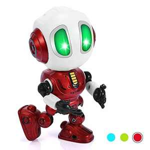 Cool Toys for 3-12 Year Old Boys Girls,Mini Robots Fun Game for Kids Electronic Cool Sounds Idea Gifts for Kids Age 3+ Autism Toys for Boys Girls 5-8 Cute Toys for Toddlers-Red