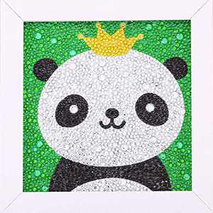 ALTRUB Funny DIY Mosaic Craft Kits - Brilliant 5d Diamond Painting Kits with Wooden Frame for Children up 6 Years Old (Cute Panda, 7.1 x 7.1 inch)