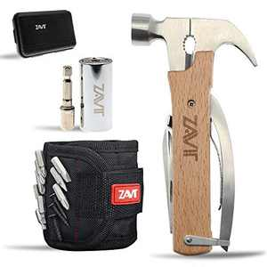 Gifts for Men Him Dad Husband,Christmas Stocking Stuffers for Man,Anniversary Birthday Valentines Day Gift for Him,Fathers Day,Him Gifts,All in One Multitool Hammer/Magnetic Wristband/Universal Socket