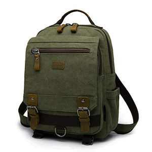 Classic Backpack For Men Travel Laptop Backpack With Usb Charging Port Canvas Messenger Bag