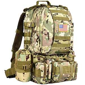 NOOLA Military Tactical Backpack Army Assault Pack Built-up Rucksack Molle Bag CP