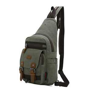 Canvas Messenger Bag For Men Little Backpack Shoulder Backpack Mochilas De Mujer (KL7224#729#2ARMY GREEN)