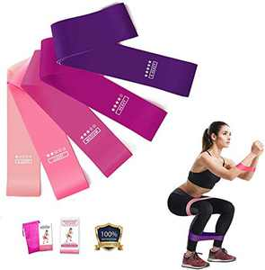 Exercise Bands Bands for Working Out Resistance Bands Natural Latex Pilates Flexbands for Home Fitness Strength Training Physical Therapy Set of 5