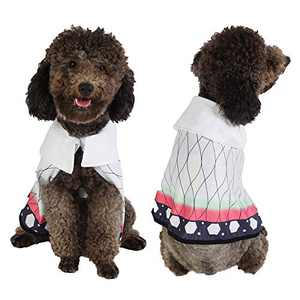 Coomour Cute Dog Costume Pet Funny Anime Cloak Cartoon Costume Cute Cat Cosplay Cape for Small to Large Dogs Cats Clothes (X-Large, White)
